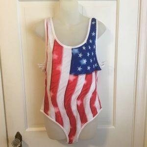 Cold Crush American flag Bodysuit 🇺🇸 size XL